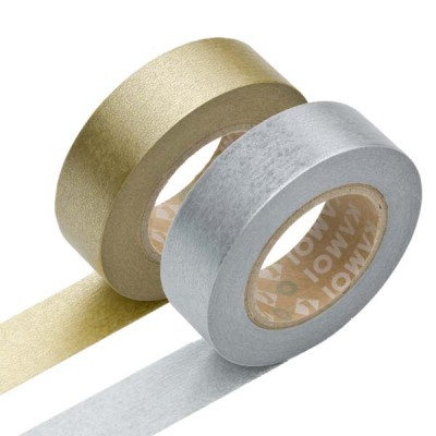 Masking Tape - Gold & Silver