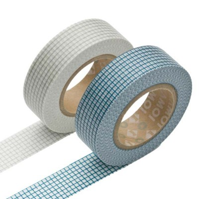 Masking Tape - Hougan, gray & Hougan, blue
