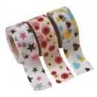 Masking Tape - Kids motif: Flower, Heart & Star
