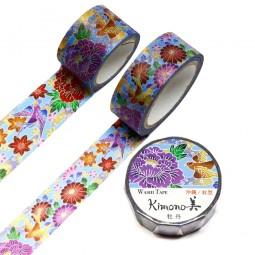 Masking Tape 'Kimono-Muster' Botan to Kiku