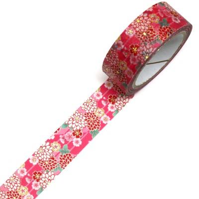 Masking Tape 'Kimono-Muster' Sakura to Kiku