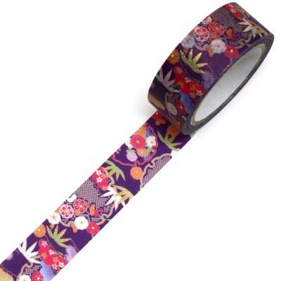 Masking Tape 'Kimono-Muster' Yukiwa Kiku