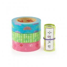 Masking Tape - Rink-Tape Dreierpack 'Komachi Matsu-Take-Ume'