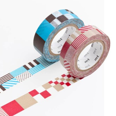Masking Tape - Mix, red & Mix, blue