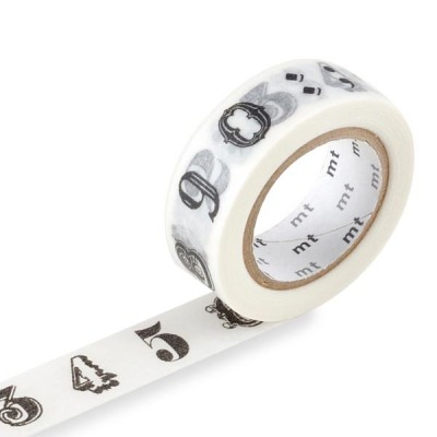 Masking Tape - Number / Symbol, black