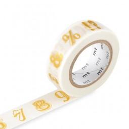 Masking Tape - Number / Symbol, gold
