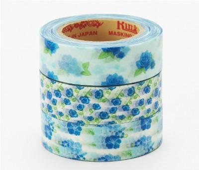 Masking Tape - Rink-Tape Dreierpack 'Flower Blue'