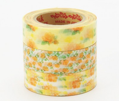 Masking Tape - Rink-Tape Dreierpack 'Flower Yellow'
