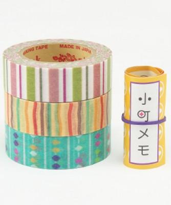 Masking Tape - Rink-Tape Dreierpack 'Komachi Shima-Soroban'