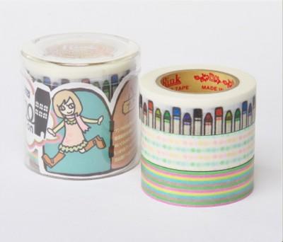 Masking Tape - Rink-Tape Dreierpack 'Roll Mansion Bungu'