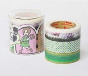 Masking Tape - Rink Tape Triple Pack Roll Mansion Midori