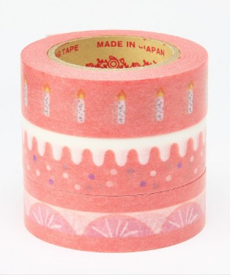 Masking Tape - Rink-Tape Dreierpack 'Sweet Red Cake'