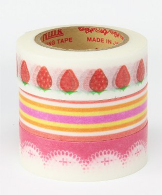 Masking Tape - Rink-Tape Dreierpack 'Sweet Strawberry'