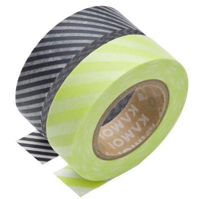 Masking Tape - Stripe budounezu & Stripe wakaba