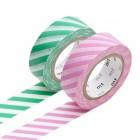 Masking Tape - Stripe, pink & Stripe, green