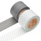 Masking Tape - Wide (A) – Border, monochrome & Dot, smoke gray