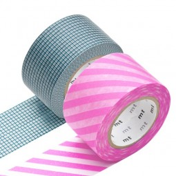 Masking Tape - Wide (I) - Hougan blue & Stripe, pink