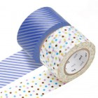 Masking Tape - Wide (J) – Drop, lavender & Stripe, light blue