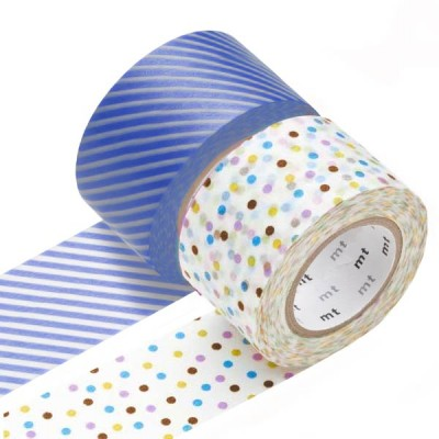 Masking Tape - Wide (J) – Drop, lavender & Stripe, light blue