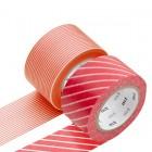 Masking Tape - Wide (K) – Stripe, red & Border, sango