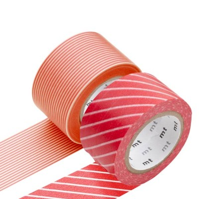 Masking Tape - Wide (K) – Stripe, red & Border, sango