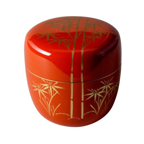 natsume bambus rot teedosen teezeremonie japanwelt. Black Bedroom Furniture Sets. Home Design Ideas