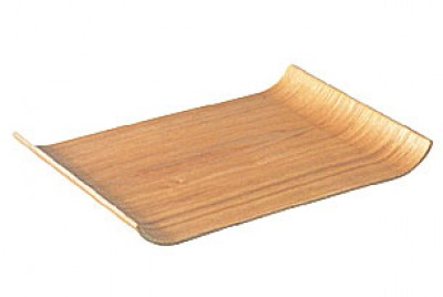 NONSLIP Tablett aus Weidenholz mit gebogenen Enden - 2er Set
