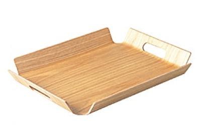 NONSLIP Tablett aus Weidenholz mit Grifflöchern - 2er Set