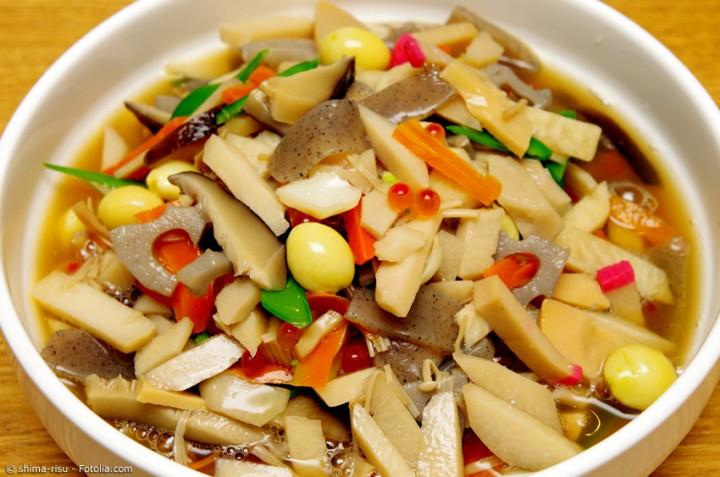 Noppei Jiru aus Niigata – Gemüse-Suppe zu Neujahr
