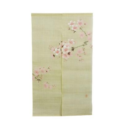 Noren - Kirschblüte, Leinen beige, 88x150cm