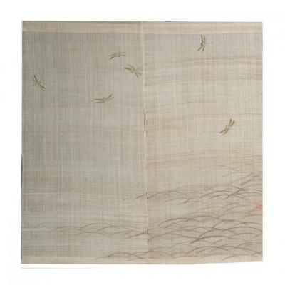 Noren - Libellenschwarm, Leinen beige, 88x90cm