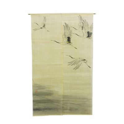 Noren - Tsuru, Leinen beige, 88x150cm