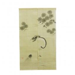 Noren - Tsuru & Kame, Leinen beige, 88x150cm