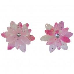 Ohrring - Doppel-Kirschblüte rosa