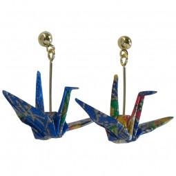 Ohrring - Orizuru blau