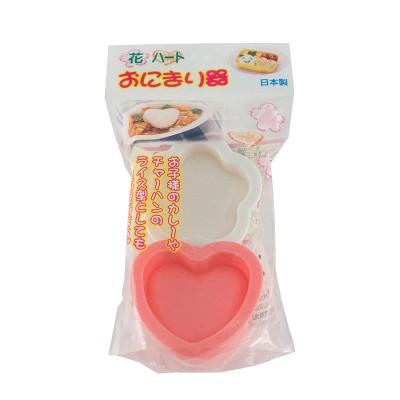Onigiri Form Flower und Heart, Plastik