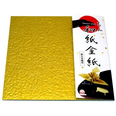 Origami-Papier Goldkrepp-Washi