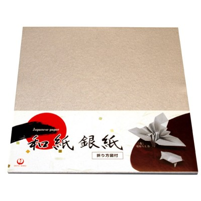 Origami-Papier Silberkrepp-Washi fein