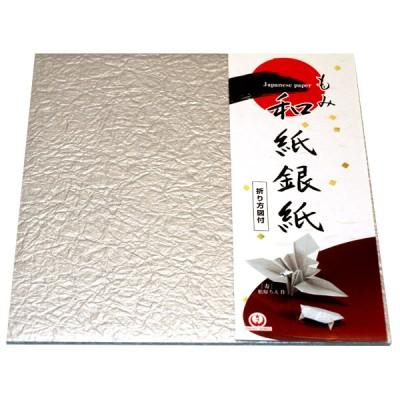Origami-Papier Silberkrepp-Washi