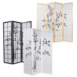 Paravent - Bambus-Motiv