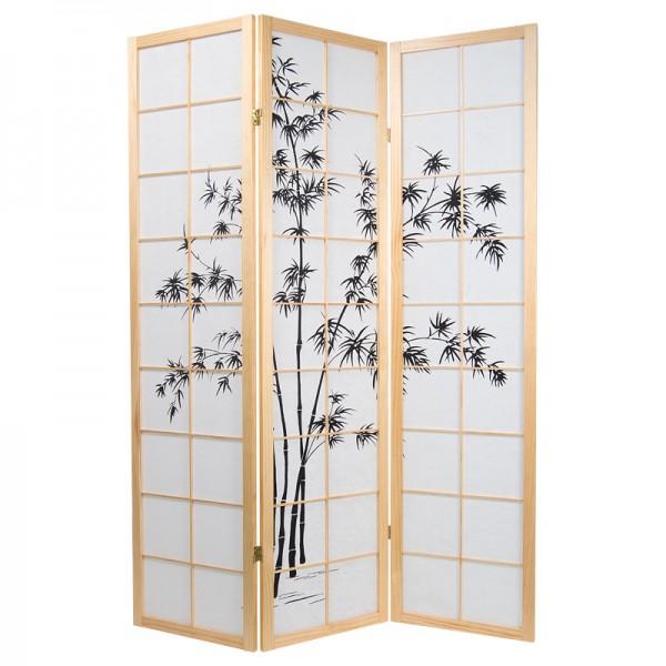 Paravent drei oder vier fl gel mit bambusmotiv - Paravent bambus ...