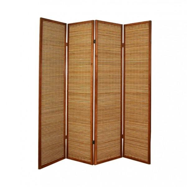 Paravent heller bambus paravents raumteiler japanwelt for Paravent bambus