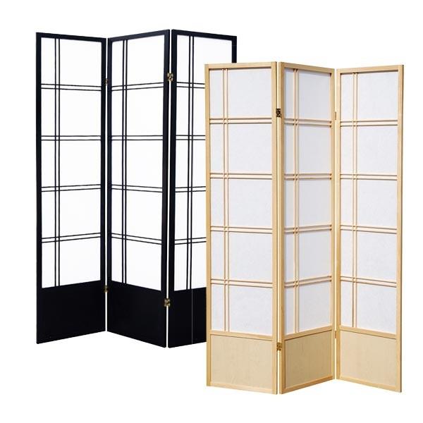 paravent double cross mit trittschutz paravents raumteiler japanwelt. Black Bedroom Furniture Sets. Home Design Ideas