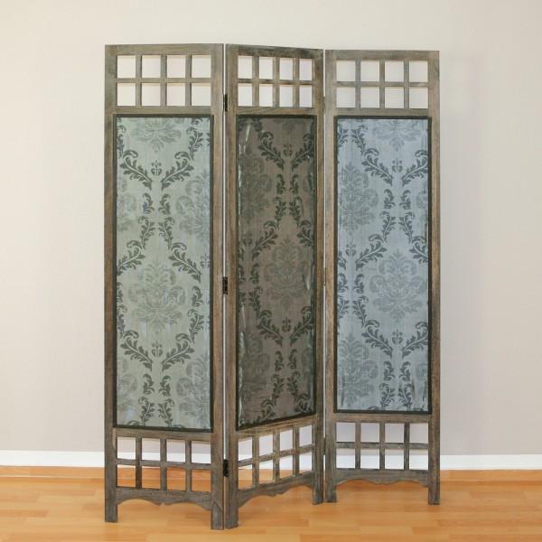 paravent grau paravents raumteiler japanwelt. Black Bedroom Furniture Sets. Home Design Ideas