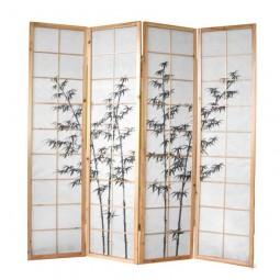 Paravent - Grüner Bambus
