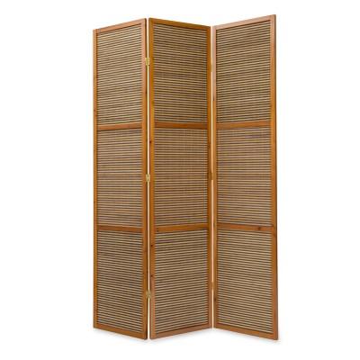 Paravent - Heller Bambus
