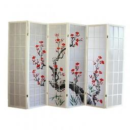Paravent - Kirschblüte 6 Flügel