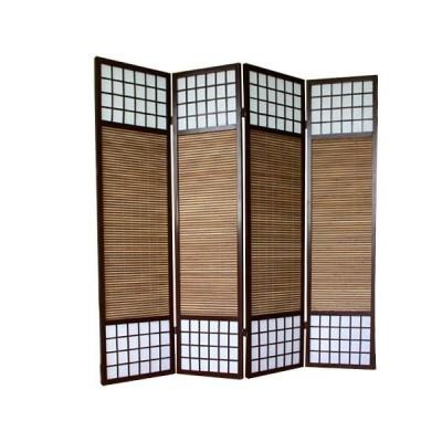 Paravent - Shoji mit Bambuslamellen - Sondergröße
