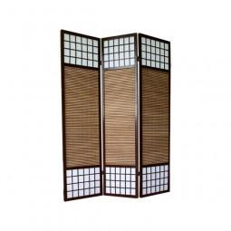 Paravent - Shoji mit Bambuslamellen