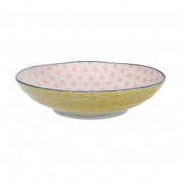 Pastateller 'Asanoha Seigaiha - Pink/Gelb'